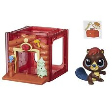 Littlest Pet Shop Mini Estilo Set con #4025 figura de Aliso waterley Castor (B2896)