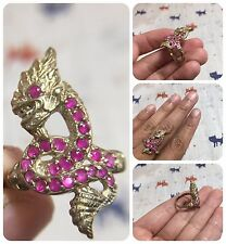 Beautiful Ring Phaya Nark Extensible Thai Amulet Luck Rich Wealth Protect Size 8