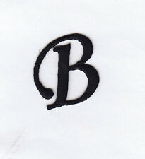 "MONOGRAM LETTERS - 1 1/4"" BLACK LETTER ""B"" - Iron On Embroidered Applique"