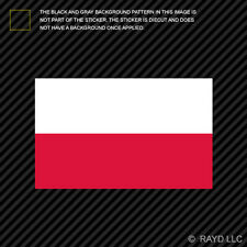 "4"" Polish Flag Sticker Decal Self Adhesive Vinyl Poland"