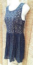 PRIMARK ATMOSPHERE BNWT Ladies Navy Lace Sleeveless Dress Size 12 RRP £15