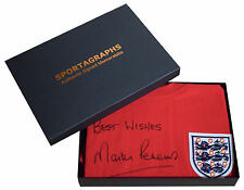 Martin Peters SIGNED Shirt Autograph Gift Box England New Scoredraw AFTAL & COA