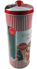 Coca Cola Retro Coke Vintage Lady Red Drinking Straw Holder / Dispenser