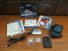 Sony Cyber-Shotr DSC-T5 5.1 MP Digital Camera - Color Silver - with Carring Case