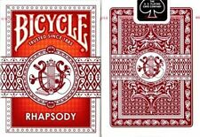 Bicycle Red Rhapsody Playing Cards 1 New Deck Poker Size Regular Index
