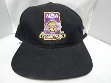 2001 Los Angeles Lakers NBA Champions New Era Fitted Hat Size 7 5/8