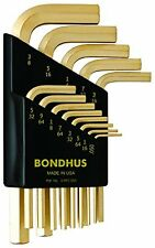 Bondhus 38237 Set of 13 Hex L-wrenches with GoldGuard Finish, Short Arm