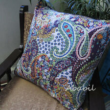 """24"""" Large Cotton Home Decorative Printed Pillow Cover Kantha Work Cushion Covers"""