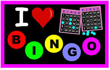 I LOVE BINGO - NOVELTY FUN  FRIDGE MAGNET - BRAND NEW - GIFT / PRESENT