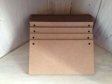 5 x PLAQUES - 20x10cms Wooden MDF Blanks - fab for crafts, painting, with holes