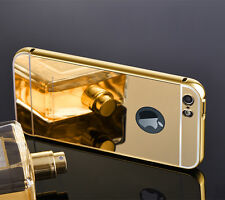 NEW Luxury Aluminum Ultra-thin Mirror Metal Case cover iPhone 6 14k gold plated