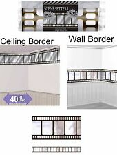 Hollywood Metallic Film Border Roll Wall Border Scene Setter Oscars Movie Party