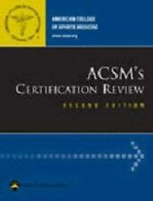 ACSM's Certification Review American College of Sports Medicine Paperback