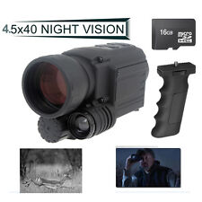 16GB Infrared IR Digital Night Vision Video Camera Monocular Scope Gen2 DVR+Grip