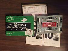 Vintage AUTO BRIDGE  Play Yourself Bridge Card Game 1957 by Actual Play Vintage