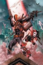 HARLEY QUINN & DEATHSTROKE POSTER (91x61cm) DC COMICS NEW WALL ART
