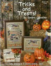 Tricks and Treats Sandra Cozzolino Halloween Witches Cross Stitch Patterns NEW