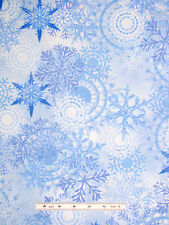 Christmas Snowflake Allover Blue Cotton Fabric Timeless Treasures C2207 - 13""