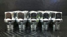 24 EXTENDED THREAD ET CHROME BULGE ACORN OPEN END LUG NUTS 12X1.5 TUNDRA TACOMA
