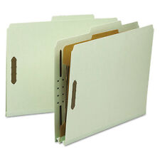 """Smead Classification Folder 1 Divider 2"""" Exp 2/5 Cut Letter Gray/green 10/bx"""