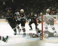 HOFer #22 Brett HULL Soars CELEBRATING The 99 Stanley CUP Custom LAB 8X10 NEW !!