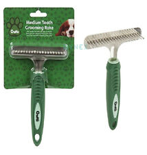 Crufts Undercoat Pin Rake For Dogs Premium Soft Grip Pet Dog Brush Comb Grooming