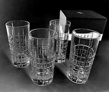 SET 4 RALPH LAUREN COCKTAIL PARTY HIGHBALL Glasses Lead Crystal  Bar Whiskey
