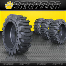 12x16.5 Prowler ProFlex Solid Skid Steer Tires and Wheels - Flat Proof, No Flats