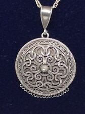 RARE 1879 David Andersen Norway Silver Filigree Necklace Pendant 'christiana'
