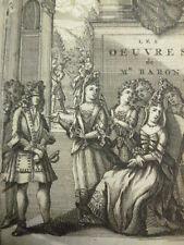 OEUVRES DE Mr LE BARON 1694 Le rdv Thuillieries, La coquette et la fausse prude.