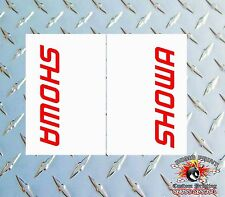 SHOWA CLEAR Upper Fork Graphics Decals stickers suspension