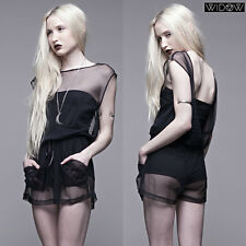 LIP SERVICE SHEER MESH ROMPER SHORTS JUMPSUIT FETISH GOTHIC SEXY PIN UP HOT XS