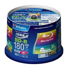 50 Verbatim Blu-ray 25GB 6x blank BD-R Blank Disc Printable Media Japan Import