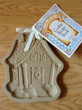 """BROWN BAG COOKIE ART """"GINGERBREAD HOUSE"""" PRESS-MOLD with RECIPE BOOK 1989"""