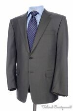 HICKEY FREEMAN Taupe Gray Striped 100% Wool Jacket Pants SUIT Mens - 42 R