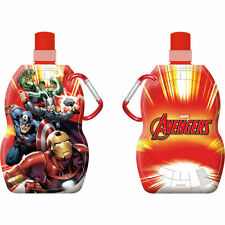 AVENGERS FOLDABLE WATER DRINK BOTTLE WITH CARABINER CLIP : WH1/2 : 505 : NEW