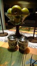 """Set of 2 Royal Worcester Egg Coddlers Lavania Black Berries 2.5"""""""