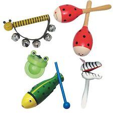 Animal Band Music Set Wooden Classic Toy Sensory Development Baby Band Daycare