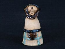 Cute Hand Crafted Clay Smiling Scottish Man Wearing Kilt Figurine