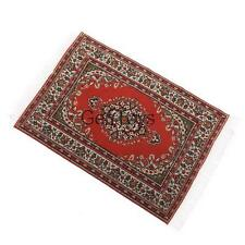 Red Rug Carpet for 1/12 Dolls House Miniature Furniture Living Room Ornament