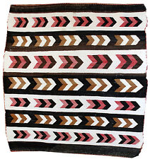 Hand made antique Native American Navajo Baby Blanket Rug 3' X 3.11' 1880 1B550