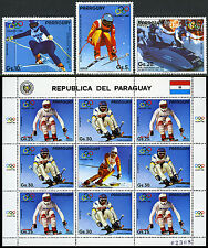 Paraguay C679-C683,MI 4111-4115,MNH.Olympics,Calgary.Medalists,Competitors, 1987
