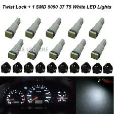 10pcs 74 White Instrument Panel Dash Light LED Bulb PC74 Sockets T5 Kit Twist-in