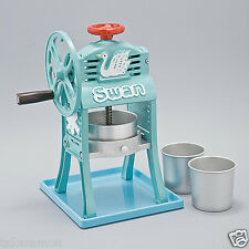 New Swan Cast-iron Shaved Ice Cup and Cubes Hawaiian Shaver Kakigori Japan