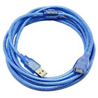 32ft USB2.0 480Mbps M/F cable extension Transparent wire shielding Magnetic ring