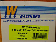 Walthers HO #948-8887 Code 83 Nickel Silver DCC Friendly Turnout