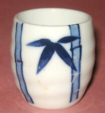 """BAMBOO"" BLUE & WHITE CHINA TOOTHPICK HOLDER-- VERY NICE"