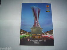 2014 UEFA EUROPA LEAGUE FINAL BENFICA V SEVILLA *OFFICIAL PROGRAMME*