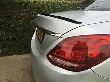 Mercedes C-Class W205 Boot Lip Spoiler 2014-2016 AMG LooK UK SELLER
