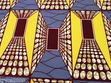 2-YDS  POLY LYCRA 4W STRETCH GEOMETRIC OPTICAL ILLUSIONS  PRINT NEW